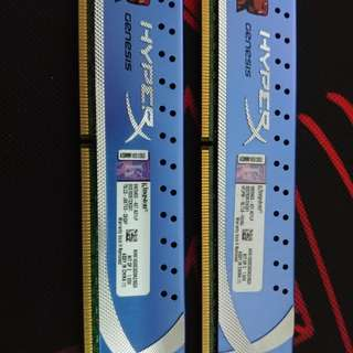 Hyper X Genesis : 4GB x2 Ddr3 1600mhz Ram Kit .