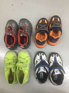 BUndle of boys shoes from Stride rite, Superga and Keen