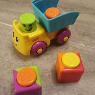 Stack 'n Surprise Blocks Blockity Pop Dump Truck