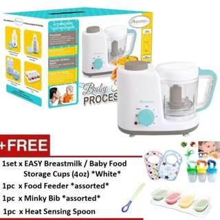 Autumnz 2-in-1 Baby Food Processor (Steam & Blend) *FREE x 4 GIFTS (4oz)*