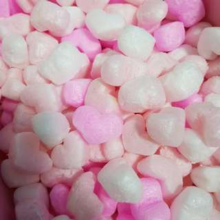 Heart Shaped Styrofoam Pink