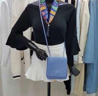 購自韓國 淺藍色 斜背袋