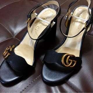 Gucci with heels wearing Bella Padilla