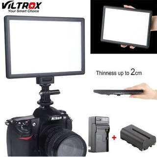 Last set Last set !!!! Camera DSLR Video Fotography Source Viltrox L116T Led Light for your need *camera Not Included*