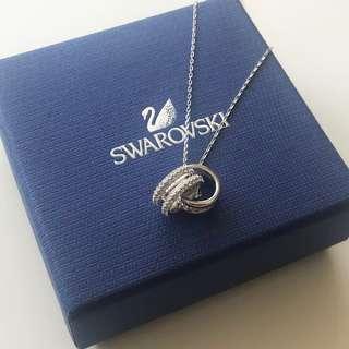 【Swarovski】鍍白金色FURTHER 鏈墜 連頸鍊