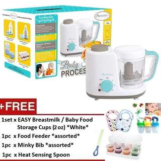 Autumnz 2-in-1 Baby Food Processor (Steam & Blend) *FREE x 4 GIFTS (2oz)*