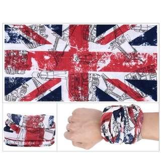 $2 per pc !! 3pcs mix and match free mail !! Brand New Union Jack British SOC STAR SOF Multi Purposes head socks Bandana sleeves