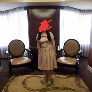 Off shoulder pink cocktail dress/gown