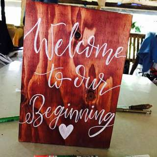 Wedding Calligraphy Lettrering on Wood for Home and Occassion Decors
