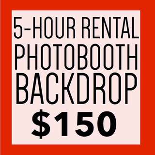 Photobooth backdrop for rent