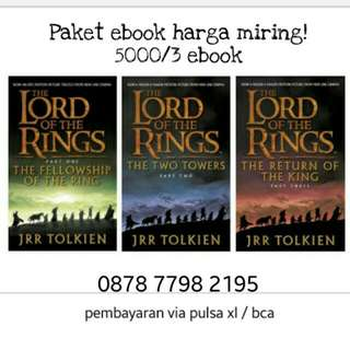 Paket novel lord of the rings komplit indo