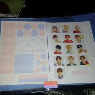 Seventeen photocard sticker season greetings