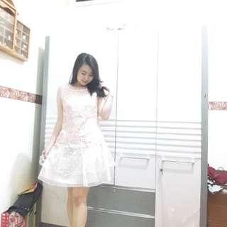 Girlie pink dress