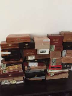 Premium empty cigar boxes