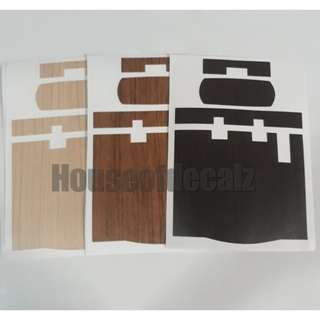 Slim iu unit woodgrain style sticker for motorcycle