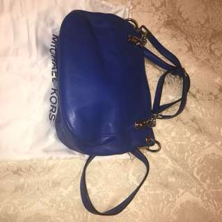 Michael Kors Blue Leather Bag