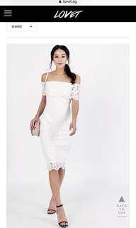 Monica off-shoulder lace dress