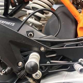 KTM RC200/390 ADJUSTABLE REAR SET