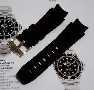 Rubber B Strap M107 Buckle 膠帶 連扣 90% 新 for Rolex deepsea Sea-Dweller