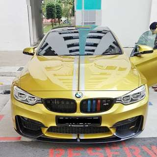 Installation Of Rims Protector Guard Service Done On BMW M4 Coupe