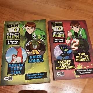 Ben 10 Ultimate Alien 2 stories in 1 book