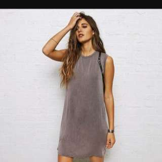 Don't ask why grey wash out muscle dress with open back
