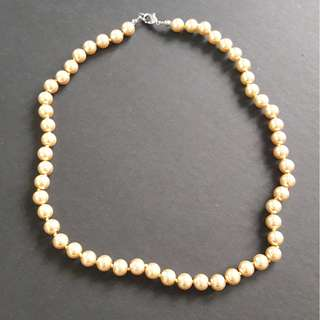 Gold Colour Pearl Necklace