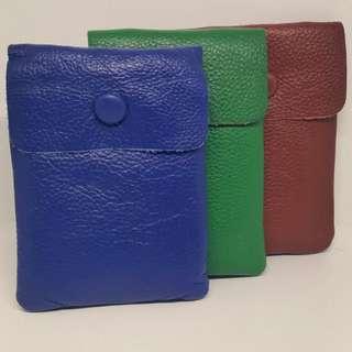 全新真皮掛鏈袋/手機袋(藍綠啡三色可供選擇)