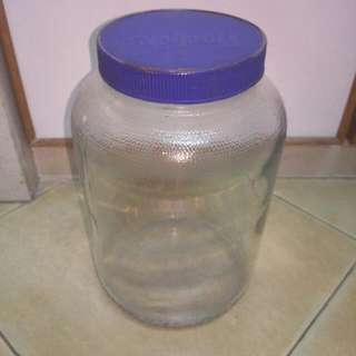 Old Horlicks Glass Jar