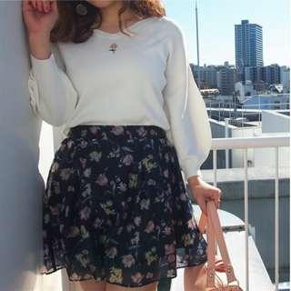 dazzlin花卉透視感裙子