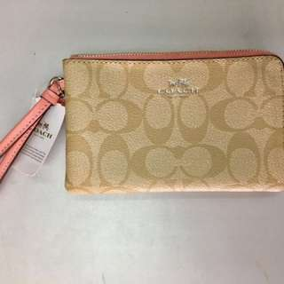 "Coach double zip wallet 6-12""x4"""
