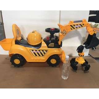Children Excavator Digger Car Toy XL Size