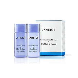 Laneige Basic Care Ultra Moisture Trial Kit (2 Items)
