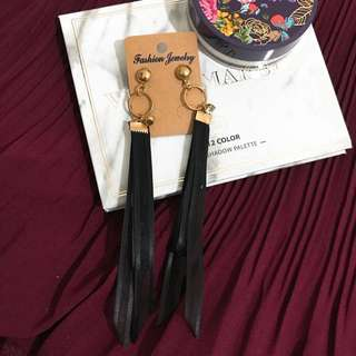 Black long earring