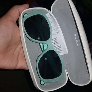 Zara green sunglasses