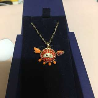 Swarovski橙色蟹仔頸鏈