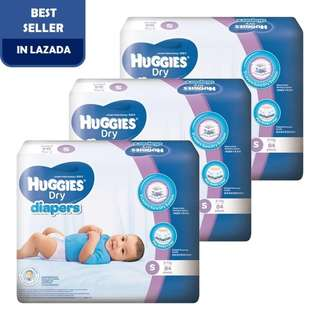 Huggies Dry Diapers S84 Super Jumbo (3 pack)
