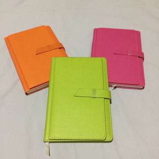 Leather Notebook with Cardholder