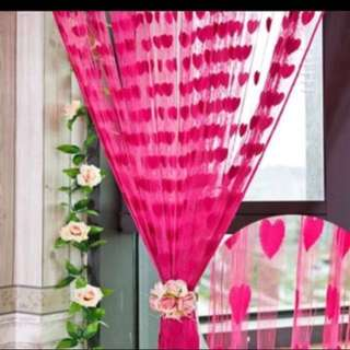 Heart tassel curtain