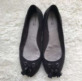 Sale!!! Sperry Top-Sider Bliss Black Glitter Flats US Size 7.5