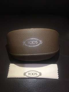 Tod's glasses case 眼鏡盒連布