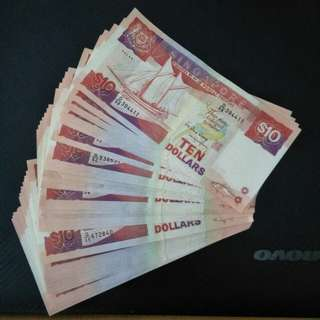 Sg ship $10 note 70pcs