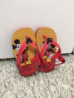 Baby Havaianas (Mickey Mouse/Red)