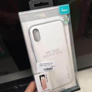 Iphone X 全新手機套 SKY SLIDE BUMPER CASE PREMIUM BUMPER CASE 可放卡 白色 真品 手機殻 iPhoneX 防撞 保護套