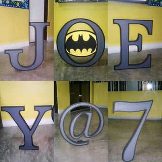 Letter standee