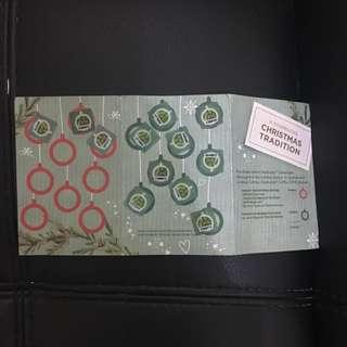 Starbucks Christmas Sticker Planner Card