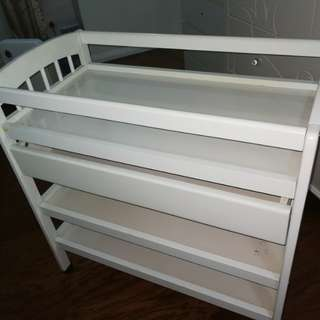 Changing Table Cabinet with Drawers