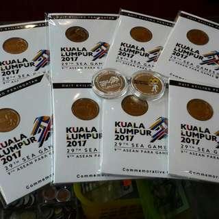 Coins commemorative Sea games 2017 (Kuala Lumpur)