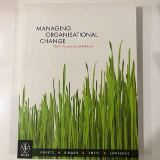 Organisational Development and Change Textbook