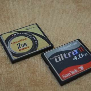 CF Cards 2GB & 4GB